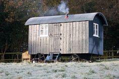 Shepherd's huts window size