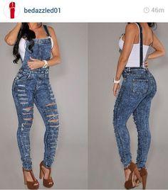 High waist denim overall shorts – World trend models of jeans ...