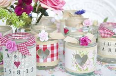 Personalised Recycled Jam Jar Candle Holders by Abigail Bryans Designs, the perfect gift for Explore more unique gifts in our curated marketplace. Jam Jar Candles, Diy Candles, Candle Jars, Mason Jars, Jam Jar Crafts, Crafts With Glass Jars, Crafts To Make, Diy Crafts, Candle Holders Wedding