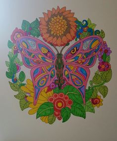ColorIt Free Coloring Pages Colorist: Diane Cole‎ #adultcoloring #coloringforadults #adultcoloringpages #freebiefriday #butterfly