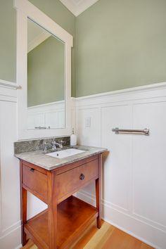Amusing Sage Green White Bathroom