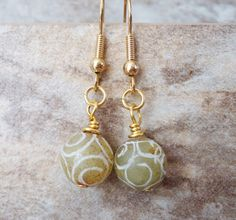 Earrings Carved Jade Earrings Jade and Gold by StrokesandStone Jade Earrings, Etsy Earrings, Earrings Handmade, Green And Gold, Carving, Pendant Necklace, Personalized Items, Jewelry, Jewlery
