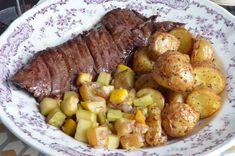 Onglet de boeuf Angus cuit à basse température. Une façon différente cuire la viande pour en tirer toutes les saveurs. Elle est étonnamment bonne et tendre. Boeuf Angus, Pot Roast, Potato Salad, Potatoes, Vegetables, Ethnic Recipes, Sauces, Food, Meatball
