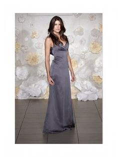 Elegant Gray Taffeta Straps A-Line Floor Length Bridesmaid Dresses With Ruffles Embellishment Natural Waist Zipper Closure Free Shipping/Delivery [CP02601] - $150.00 : Crazeparty.com, Dare to be Different!