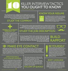 10 interview tactics you should know.