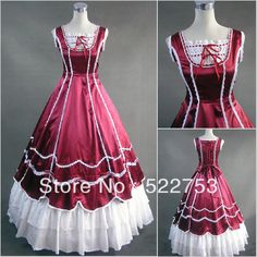 Victorian Corset Dresses | Free shipping Custom Victorian Corset Dress Gothic/Civil War Ball Gown ...