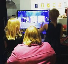 Enjoying our new #playstation from amazon! #littlemiracles #singstar #charity #instagram