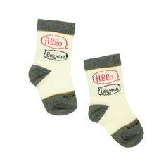 Etiquette + ATSUYO ET AKiKO Bonjour Socks - mini mioche - organic infant clothing and kids clothes - made in Canada