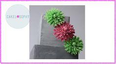 Making Sugar Flowers Gum-paste Dahlia for Beginners - YouTube