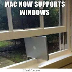 How to make MAC support windows.     Whose the wise guy then?