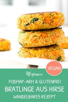 Leckere Alleskönner: Hirsebratlinge mit Gemüse und Dip Millet patties are the perfect food for the Vegan Recipes Beginner, Clean Recipes, Raw Food Recipes, Vegetable Recipes, Italian Recipes, Recipes For Beginners, Healthy Recipes, Chopped Salad Recipes, Summer Salad Recipes