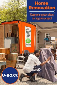 Decided to renovate your home? Use a U-Box container to help clear out space and keep your goods clean during the project. Keep it on site for easy access or store it in a neighborhood warehouse! Click through to see more! Moving Containers, Rent Me, Moving And Storage, Easy Access, Home Renovation, Decorating Your Home, Warehouse, The Neighbourhood, Cleaning