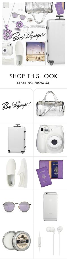 """""""Bon Voyage!"""" by totwoo ❤ liked on Polyvore featuring Topshop, Rimowa, Venice Beach, Uniqlo, Royce Leather, Ray-Ban, Native Union, Sony, WearableTech and totwoo"""