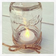 {mason jar table lanterns}