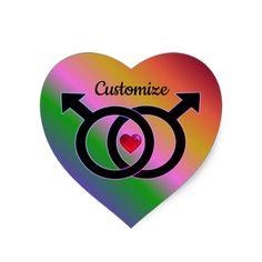 Shop Gay Marriage Rainbow Heart Sticker created by BlueRose_Design. Rainbow Heart, Rainbow Pride, Custom Stickers, Activities For Kids, Gay, Marriage, Diy Projects, Scrapbook, Make It Yourself