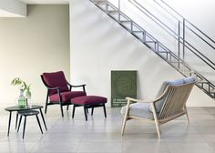 Nest of Tables, Marino Chair, Marino Footstool and Marino Two-Seater Sofa by Matthew Hilton for Ercol