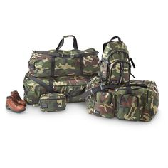 5 - Pc. Invisible Camo Duffel Bag Set. Perfect luggage for the happy couple.    PRICED LESS!