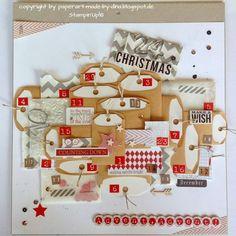Adventskalender im Layout-Format von Dina Herzog paperart-made-by-...   #WeihnachtenKannKommen www.danipeuss.de