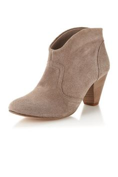 Steven by Steve Madden Pembrook Taupe Suede Ankle Booties