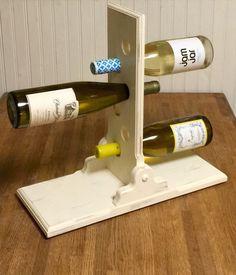 Handmade Shabby Chic Wine Bottle Holder by TheEnglishCraftsman