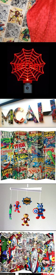 7 Items for a Marvel Comics Nursery. I'd totally get these for my nieces/nephews ;D