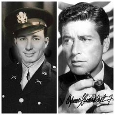 Efrem Zimbalist Jr.-WW2-Army-Purple Heart, wounded in Germany(Actor)