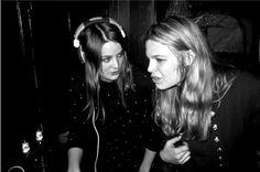 Lina & Maja DJ-set @Handl release party w Icona Pop & Caviare Days, Under Bron, Stockholm, March 2012. Photo: Johannes Helje