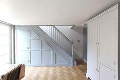69 Ideas for office storage cupboards under stairs Interior Stair Railing, Staircase Storage, Wrought Iron Stair Railing, Stair Storage, Cupboard Storage, Storage Under Stairs, Alcove Storage, Stair Banister, Office Storage