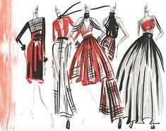 Fashion Strokes Sample Illustrations on FIT Portfolios