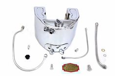 Chrome 1937 Style Oil Tank Kit Harley Davidson 1937-47 Knuckleheads Classic NEW #VTwinManufacturing