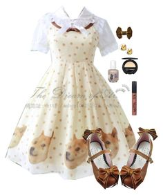 """Lolita Doge"" by adventuretimekitty ❤ liked on Polyvore featuring Dr.Hauschka, meme and doge"