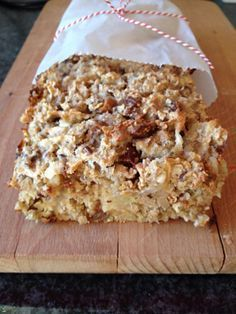 New breakfast casserole recipes bacon low carb Ideas Healthy Sweets, Healthy Baking, Raw Food Recipes, Dessert Recipes, Homemade Pita Bread, Cinnamon Recipes, Vegan Dishes, Love Food, Breakfast Recipes