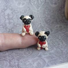 Valentine's Day Pug Puppy Miniature