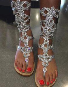 Hot Heaven Ethnic Open Toe Rhinestone High Stiletto Heel Sandals Crystal Ankle Wrap Gladiator Women Sandals