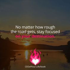 No matter what obstacles are coming your way, stay focused on what you want to create. Don't let the obstacles discourage you. #CEOofYourLife #StayFocused #Inspiration