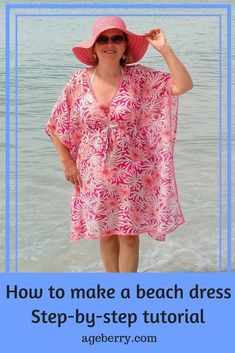 Free online sewing patterns for beginners easiest sewing patterns easy sewing projects for beginners easy sewing projects clothes beach dress instructions diy swimsuit cover up how to make a beach cover up dress how to make a swimsuit cover-up Easy Sewing Projects, Sewing Projects For Beginners, Sewing Tips, Sewing Tutorials, Sewing Hacks, Dress Tutorials, Sewing Basics, Sewing Ideas, Diy Projects