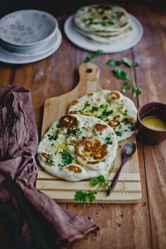 This instant naan recipe - No yeast, no eggs and yet pillowy and puffy naans.