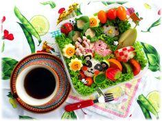My award-winning bento :) Eat Pretty, Bento Box, Cute Food, Fruit Salad, Acai Bowl, Sushi, Deviantart, Meals, Cooking