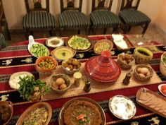 food buffet in a breakfast party i did for my friends- arabic style