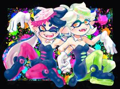 「SeaO'Colors」/「さときち」のイラスト [pixiv] #SquidSisters #Callie #Marie