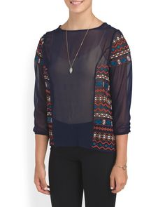 Tribal Embroidered Top