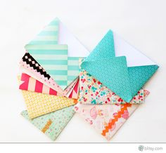 Such a cute application for the Envelope or 1-2-3 Punch Board!