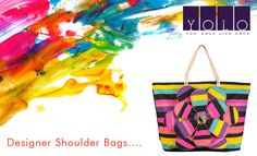 YOLO brings bright colorful Designer shoulder Bag made from Canvas for ladies.
