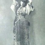Romanian girl in her national costume back in 1903