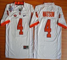 Youth Clemson Tigers DeShaun Watson 4 College Football Jersey - White