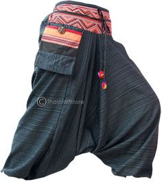 Gypsy Hippie Aladdin Hmong Baggy Genie Harem Pants Men Women Hammer Trousers | eBay