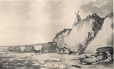 Bathing machines at Brighthelmstone, by Thomas Rowlandson, 1788