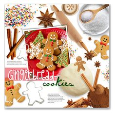 """🍴 Polyvore Baking: Gingerbread Cookies 🍪"" by alexandrazeres ❤ liked on Polyvore featuring interior, interiors, interior design, home, home decor, interior decorating, Christmas, cookies, baking and gingerbread"