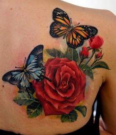 very nice Rose & Butterflies. Nice style