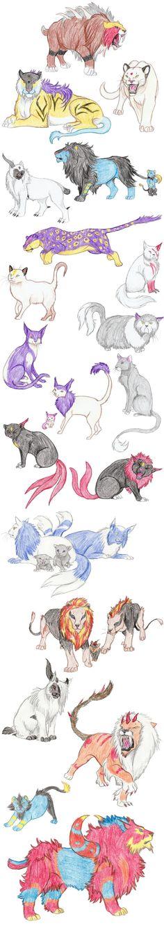 Cat Pokemon by DragonlordRynn